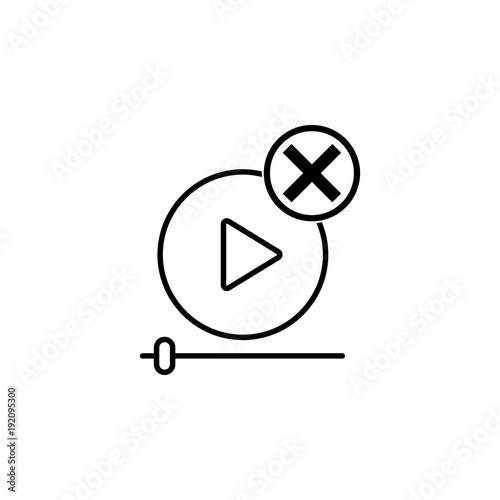 remove a video player icon  Element of video player for