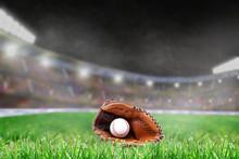 Outdoor Baseball Stadium With ...