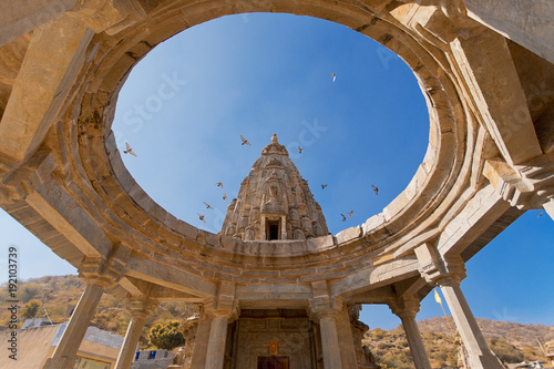 Hindu temple in Amer Jaipur Rajasthan India Poster