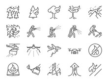 Wildfire Line Icon Set. Includ...
