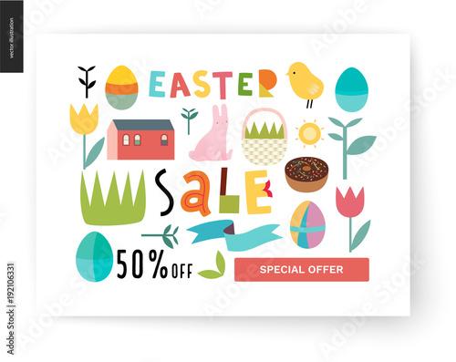 39d8d0e04a2 Easter sale poster - a shop announcement