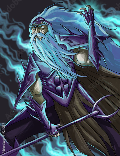 Obraz na plátně  hades god of the underworld