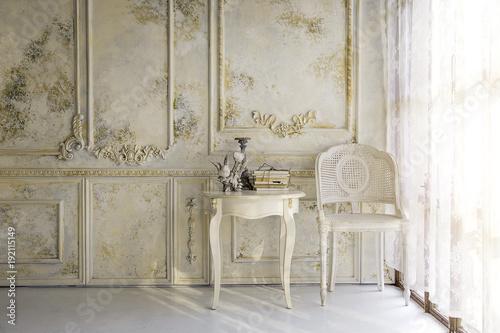 Obraz victorian liveing room in morning light background - fototapety do salonu