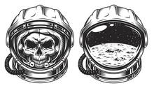 Skull In Space Helmet