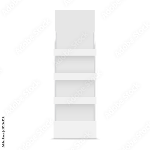 Fotografie, Obraz  Cardboard POS display mockup - front view. Vector illustration