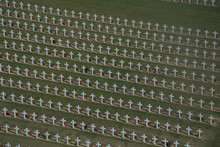Crosses At World War One Cemetery At Verdun