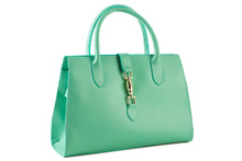 Green Female Bag On A White Ba...