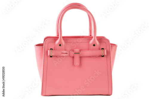 pink female bag on a white background Canvas
