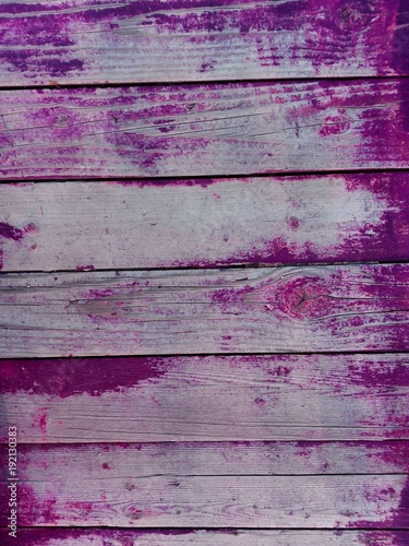 Close Up Wall Or Floor Wooden Plank Panel Board As Purple Violet Background For Text Old Wood Vintage Paint Texture