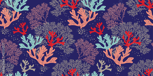 Tela  Hand drawn seamless vector pattern