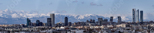 Foto op Aluminium Madrid Skyline of the city of Madrid, capital of Spain