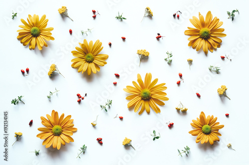 pattern-with-yellow-flowers