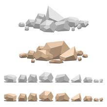 Set Of Different Stones, Vecto...