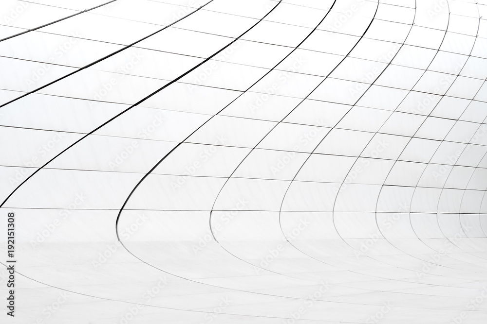 Fototapety, obrazy: White abstract construction elements of wall of modern building