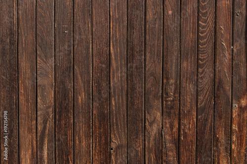 Fototapeta Rough Dark Brown wooden texture, background. Wooden wall, surface. Wooden pattern. obraz na płótnie