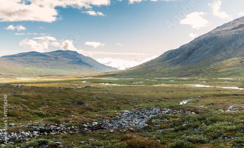 Tuinposter Purper Mountains in Jotunheimen National Park, Norway