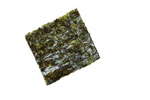 Raw Seaweed For Cooking On Whi...