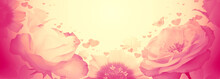 Valentines Day Floral Backgrou...