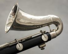 Closeup Of Part Of Bass Clarin...