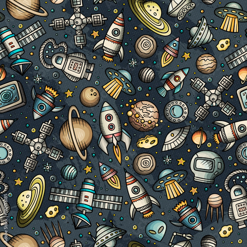 Kreskówka rysowane ręcznie miejsca, planety wzór