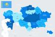 Kazakhstan Map - Info Graphic Vector Illustration