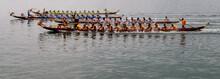 Drachenbootrennen Vor Der Insel Cheung Chau Im Südchinesischen Meer