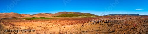 Papiers peints Corail Martial Landscapes - Geothermal active zones called Hverir on Iceland
