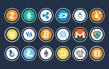 Cryptocurrency Icon Collection...