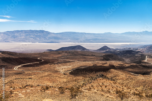 View from the Father Crowley Vista Point overlooking the Panamint Valley, Death Canvas Print