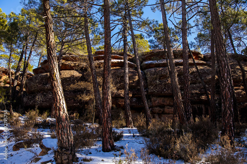 Fototapeta Albarracín w zimie