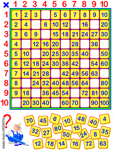 Educational Page For Children Some Numbers Have Fallen Out Of The