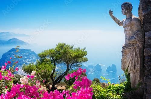 Papiers peints Bleu Capri island, Italy