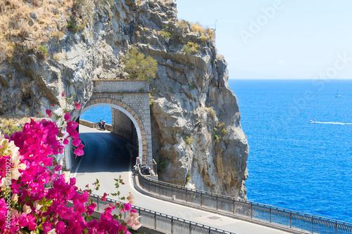 Foto auf Leinwand Grau road of Amalfi coast, Italy