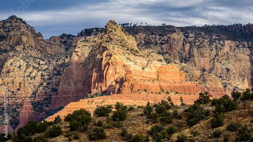 Obraz na płótnie Sceniczna Katedralna Rockowa formacja przy Dębową zatoczką w Sedona Arizona