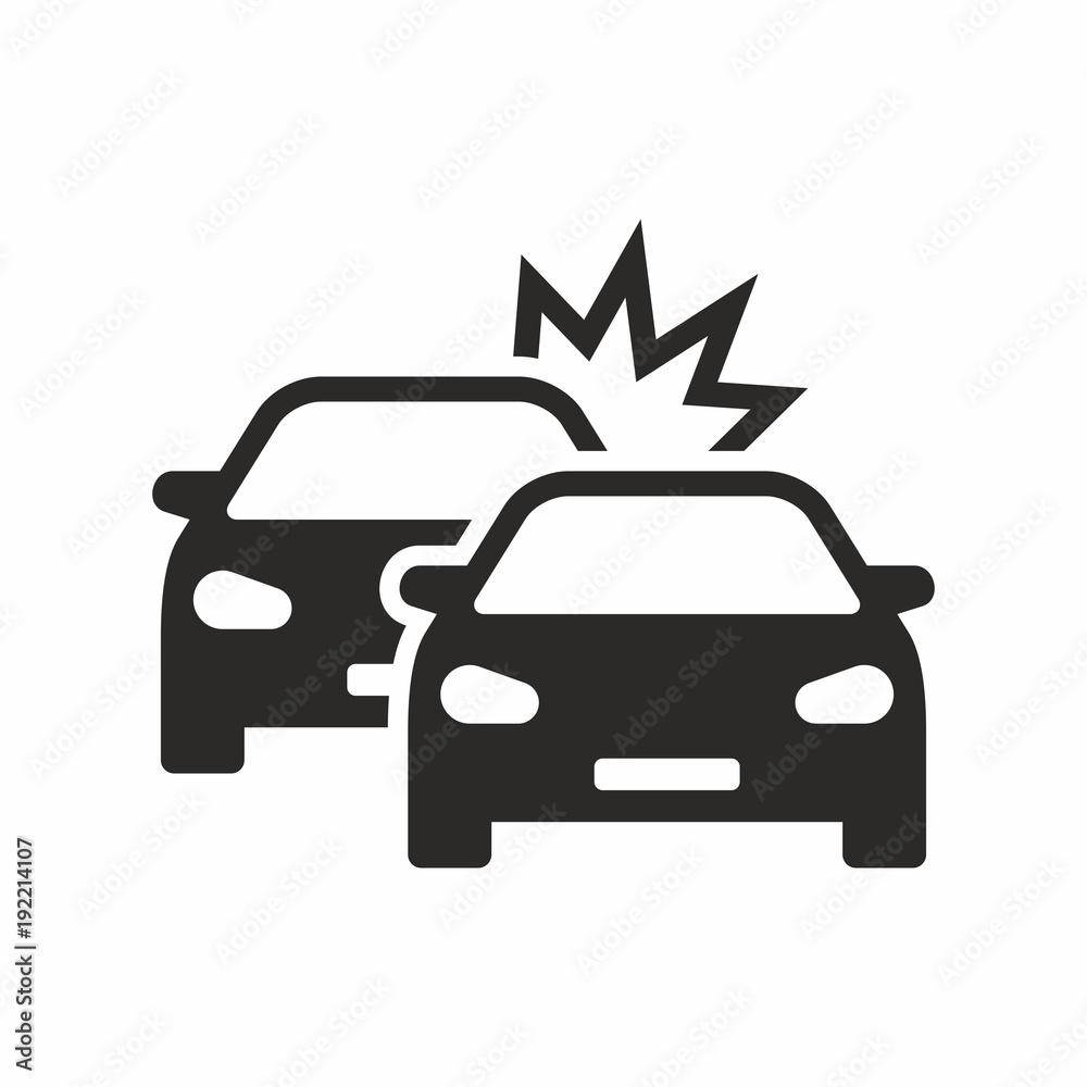 Car crash icon - obrazy, fototapety, plakaty