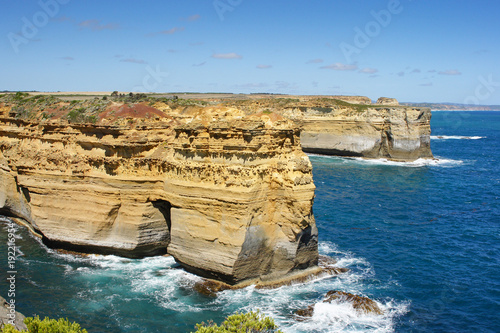Fotografie, Obraz  Landscape along the Great Ocean Road, Port Campbell National Park, Victoria, Aus
