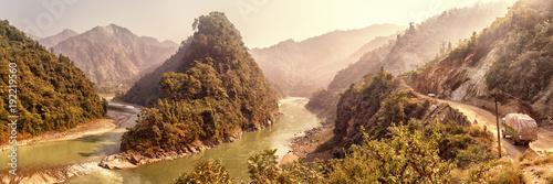 Poster Pekin Estuary of River Seti Gandaki into Trishuli, Nepal
