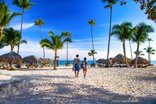 Sunny Beach, White Sand. Dominican Republic, Bavaro Coast Beach