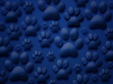 Beautiful Blue Dog Paw Backgro...