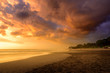 Sunset at Seminyak beach, Bali, Indonesia