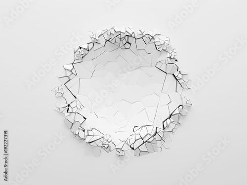 Obraz na plátne White broken wall.