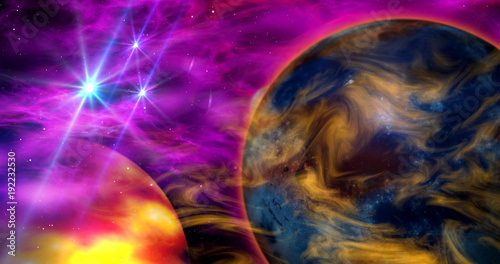 Planet abstract background