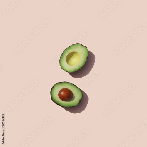 Door stickers Food Halves of avocado