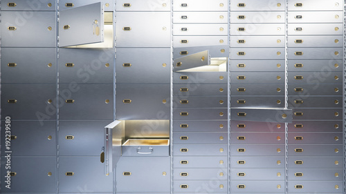 Fototapeta open bank safe doors 3d illustration obraz