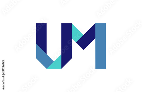 UM Ribbon Letter Logo Canvas Print