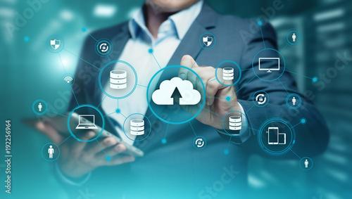 Obraz Cloud Computing Technology Internet Storage Network Concept - fototapety do salonu