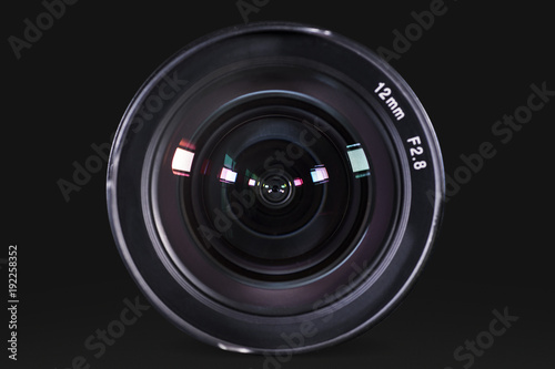 Fotografie, Obraz  Professional digital camera lens with dark background