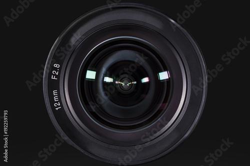 Fototapeta  Camera photo lens with dark background