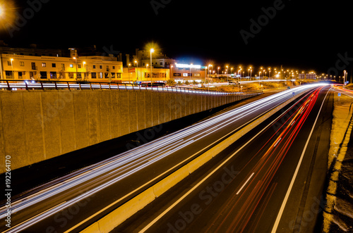 Foto op Aluminium Nacht snelweg Highway in the Night