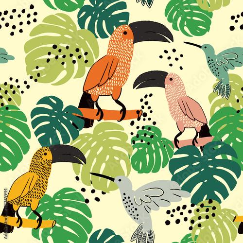 streszczenie-recznie-malowane-bezszwowe-tlo-zwierzat-ptaki-na-bialym-tle